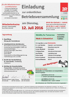 schaeffler-nachrichten der ig metall: schweinfurt: einladung zur, Einladung